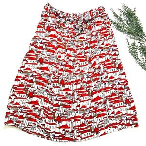 Anthropologie Getaway Knee Length Skirt